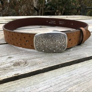 """Texas Leather Mfg Belt with buckle - fits 33 -39 """""""